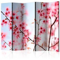 Parawan 5-częściowy - Symbol Japonii - kwiaty wiśni sakura II [Room Dividers]