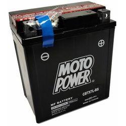 Akumulator motocyklowy Moto Power CBTX7L-BS YTX7L-BS 12V 6Ah 100A EN P+