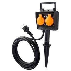 Przedłużacz ogrodowy Diall wtykany 3 x 1,5 mm2 5 m