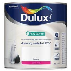Farba do drewna i metalu Dulux Rapidry biała 2 5 l