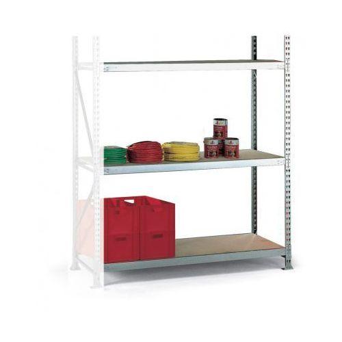 Regały warsztatowe, Regał półkowy, nośność 600 kg, 2500x1800x800 mm, dodatkowy