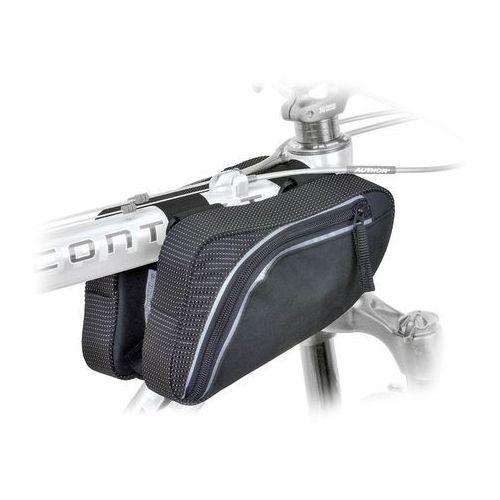 Sakwy, torby i plecaki rowerowe, 15-001080 Torba na ramę trójkątna podwójna AUTHOR A-R281, czarna M