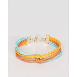 ASOS Triple Bracelet In Yellow Teal And Orange - Multi