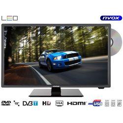 "NVOX 19C510DB Telewizor LED 19"" z DVD DVB-T/C MPEG-4/2 USB HDMI VGA 12V 24V 230V"
