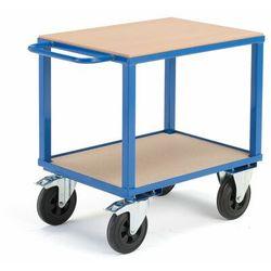Wózek warsztatowy, z hamulcami, 2 koła skrętne, 600 kg, 800x600x830 mm