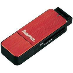 Czytnik kart pamięci, zewnętrzny, USB 3.0 Hama 123902, czerwony