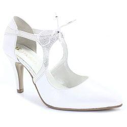 TYMOTEO EMMA BIAŁA PERŁA+SREBRO - Buty ślubne - Biały   Srebrny BUTDAM - 20% (-20%)