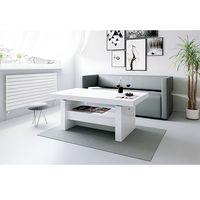 Stoliki i ławy, Ława rozkładana Aversa biała wysoki połysk