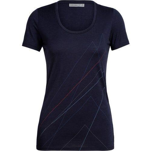 Bluzki, Icebreaker Tech Lite Scoop Pinnacle Koszulka rowerowa z krótkim rękawem Kobiety, midnight navy XS 2020 Koszulki z krótkim rękawem