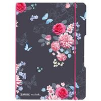 Notesy, Notes notatnik A5 My.Book Flex PP z gumką HERLITZ - Ladylike Flowers
