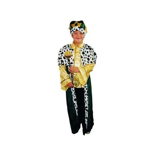 Kostiumy dla dzieci, Kostium Król zielony - M - 120/130 cm