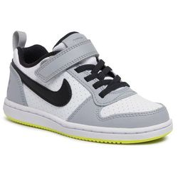 Buty NIKE - Court Borough Low (Psv) 870025 104 White/Black/Wolf Grey