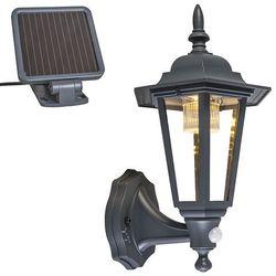 Kinkiet zewnętrzny antracytowy z LED i energią słoneczną - Nowy Jork