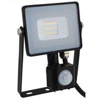 Naświetlacze zewnętrzne, Naświetlacz lampa 10W V-TAC LED z czujnikiem
