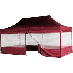 Namiot ogrodowy 3 x 6 m INSTENT - system nożycowy - kolor bordowy