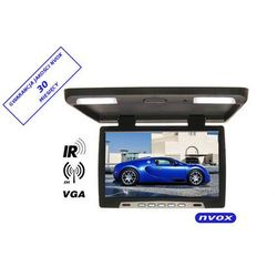 "NVOX RF2090 BL Monitor podwieszany podsufitowy LCD 20"" cali LED VGA FM IR 12/24V"