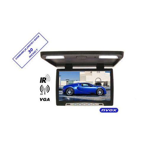 "Monitory samochodowe, NVOX RF1590 BL Monitor podwieszany podsufitowy LCD 15"" cali LED IR FM VGA 12V 24V"