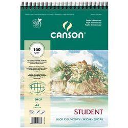 Blok rysunkowy CANSON A5 160g. 30k. fakt.spirala