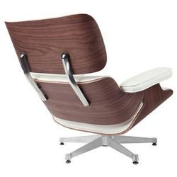 Fotel Vip inspirowany Lounge Chair - srebrny   biały   walnut