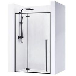 Drzwi prysznicowe szerokość 120 cm czarne profile Fargo Rea UZYSKAJ 5 % RABATU NA ZAKUP