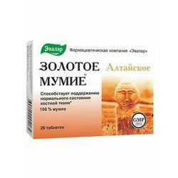 Złote Mumio oczyszczone Ałtajskie Evalar 20 tabletek 200mg