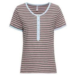 Shirt, rękawy 3/4 bonprix beżowy
