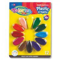 Kredki, Kredki plastikowe Colorino - płatki 12 kolorów