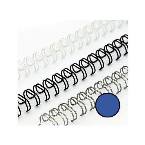 Grzbiety do bindownic, Grzbiety drutowe 8 mm, oprawa do 55 kartek, niebieskie