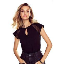 Alina koszulka bawełniana damska Eldar Romantica Czarna Letnia I (-7%)