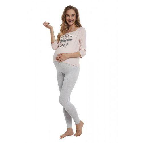 Legginsy ciążowe, Legginsy Getry Ciążowe z Panelem Szare - Melanż