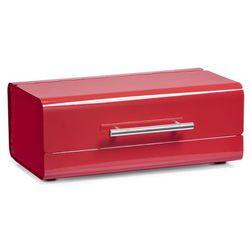 Metalowy chlebak, pojemnik na pieczywo, kolor czerwony, ZELLER