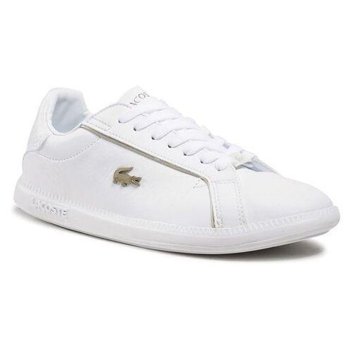 Damskie obuwie sportowe, Sneakersy LACOSTE - Graduate 0721 1 Sfa 7-41SFA007721G Wht/Wht