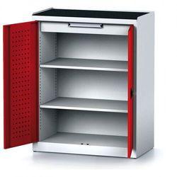 Szafa warsztatowa MECHANIC, 1170 x 920 x 500 mm, 2 półki, 1 szuflada, czerwone drzwi