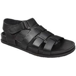 Sandały MANITU 610224-1 Schwarz Czarne męskie zdrowotne