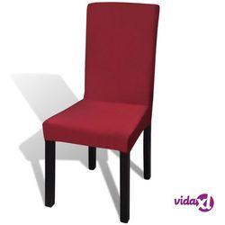 vidaXL Elastyczne pokrowce na krzesła, bordowe, 6 sztuk Darmowa wysyłka i zwroty