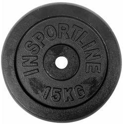 Stalowe obciążenie talerz do sztangi 30mm inSPORTLine Blacksteel 15 kg