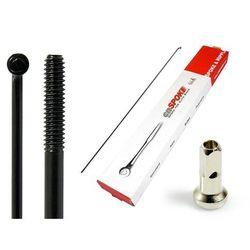 Szprychy CNSPOKE STD14 2.0-2.0-2.0 stal nierdzewna 296mm czarne + nyple 144szt.