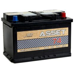 Akumulator ASSET 74Ah 680A EN PRAWY PLUS wysoki