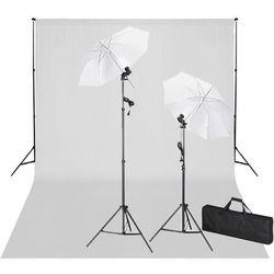 vidaXL Zestaw do studio: białe tło 600x300 i światła Darmowa wysyłka i zwroty