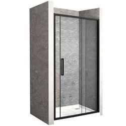 Drzwi prysznicowe z czarnym profilem 100 cm Rapid Slide Rea UZYSKAJ 5 % RABATU NA ZAKUP