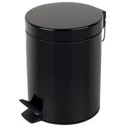 Kosz na śmieci czarny matowy 3l pedałowy Kosz na śmieci łazienkowy czarny