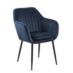 Tapicerowany fotel welurowy Erino 3X- niebieski