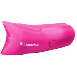 Oryginalny Dmuchany leżak lazy bag na lato inSPORTline Sofair materac fotel - Kolor Szary