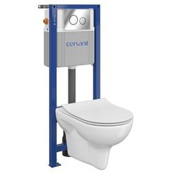 Zestaw podtynkowy WC Cersanit Neso bezkołnierzowy z deską wolnoopadającą