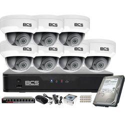 Monitoring wideo audio kasy stacji paliw sklepu BCS Point Rejestrator IP + 7x Kamera BCS-P-212RWSA + Akcesoria