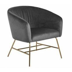Szary welurowy fotel wypoczynkowy - Nerra 3X