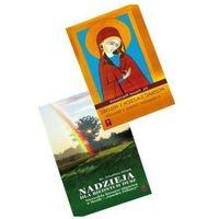 """Książki religijne, """"Poznać grzech i miłość z objawień Juliany z Norwich"""" oraz """"Nadzieja dla biednych dusz""""."""