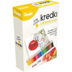 Zestaw kredki ołówkowe 24 kol + kolorowanka PENTEL