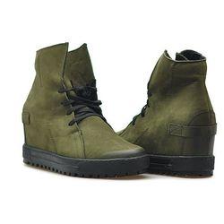 Sneakersy Eksbut 75-3975-I20-1G Zielone nubuk
