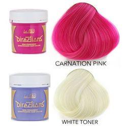 La Riche Directions   Zestaw tonerów koloryzujących: kolor Carnation Pink 88ml + kolor White 88ml